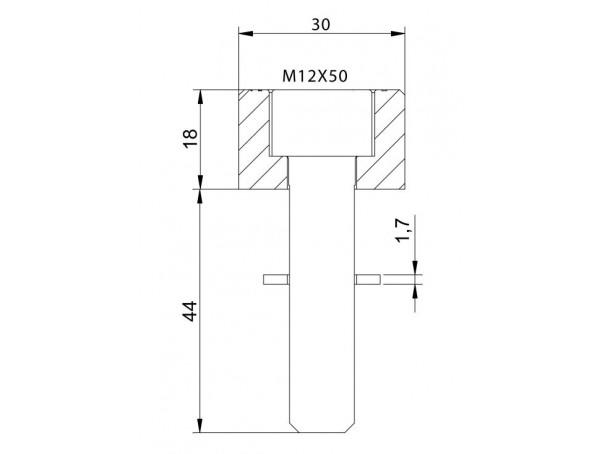 Adapter lusterek PUIG Hi-Tech IV / Tracker (9581N, lewy lub prawy)