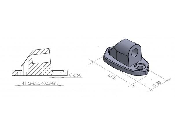 Adapter lusterek PUIG Hi-Tech do owiewek (9506N, lewy lub prawy)