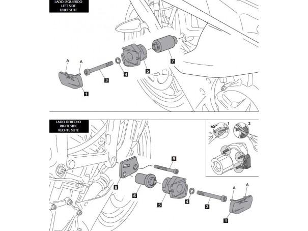 Crash pady PUIG do BMW S1000RR 12-14