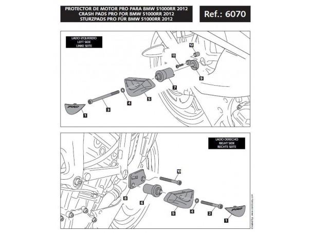 Crash pady PUIG do BMW S1000RR 12-14 (wersja PRO)