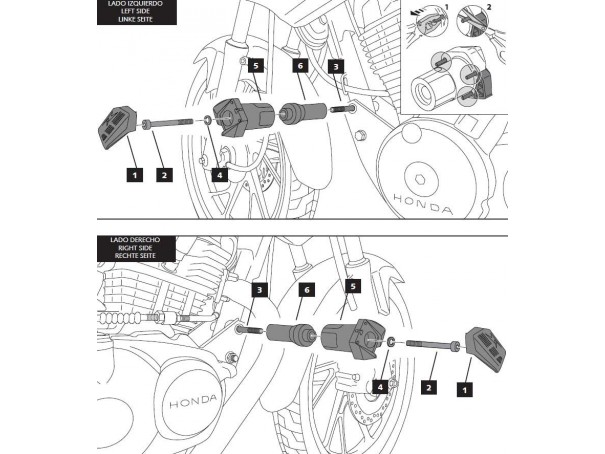 Crash pady PUIG do Honda CB125F 15-20