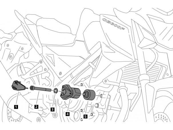 Crash pady PUIG do Honda CB300F 15-19