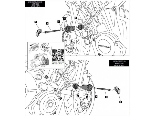 Crash pady PUIG do Honda CB650F 17-20 / CB650R 19-20