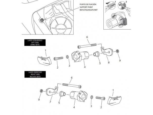 Crash pady PUIG do Honda CBR600RR 07-08