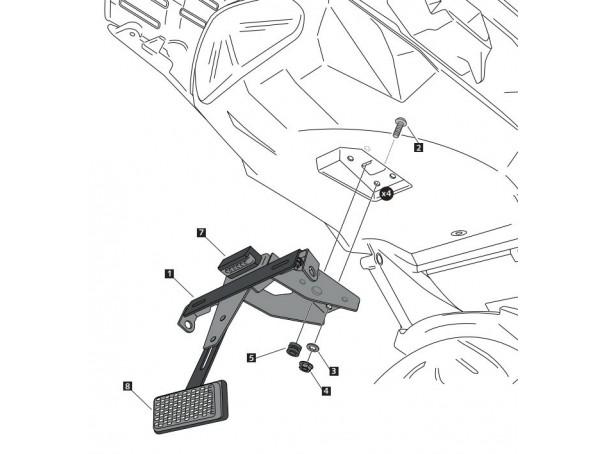Fender eliminator PUIG do Kawasaki Versys 1000 17-18
